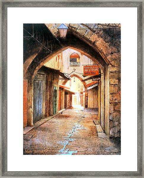 Look Who Is Coming Framed Print