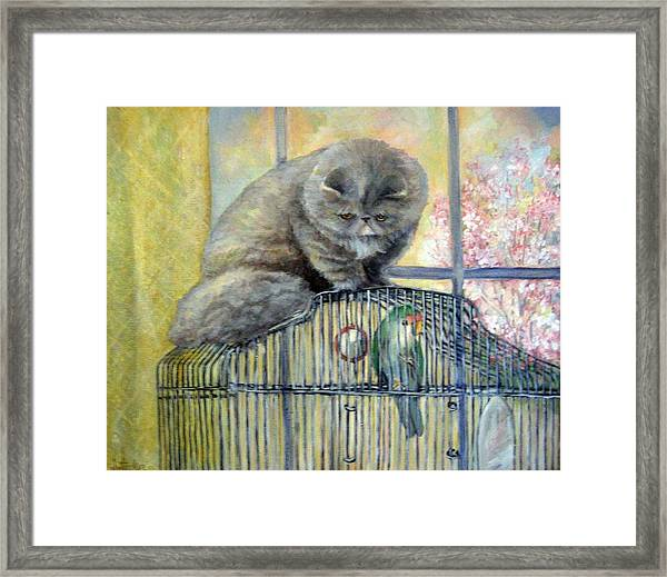Lookin For Grub In All The Wrong Places Framed Print