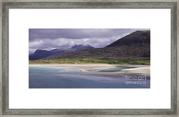 Looking Across Seilebost Bay No2 Framed Print by George Hodlin