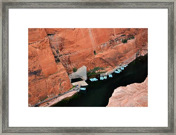 Looking Down At Glen Canyon  Framed Print