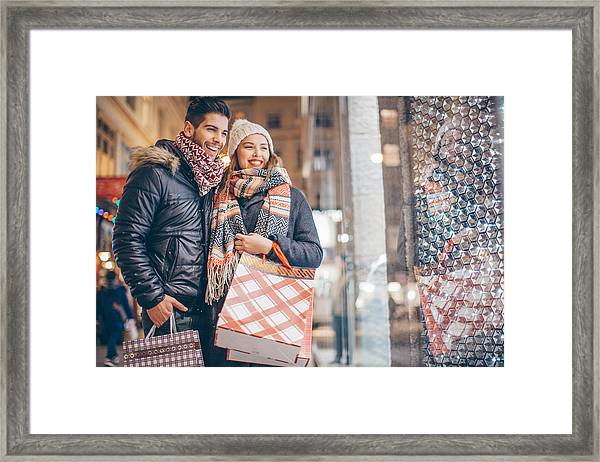 Looking For Christmas Gifts Framed Print by Svetikd