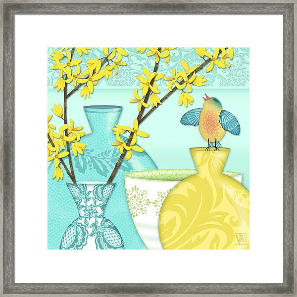 Looking For Spring Framed Print