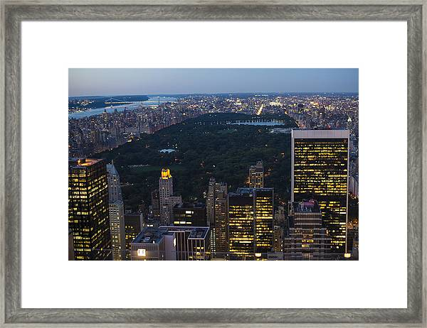 Looking From Top Of The Rock Framed Print
