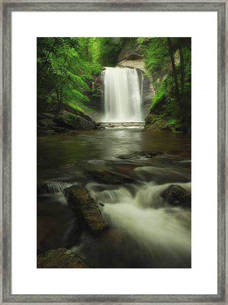 Looking Glass Waterfall In Colour Framed Print