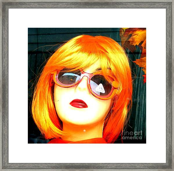 Looking In The Window - Two Framed Print