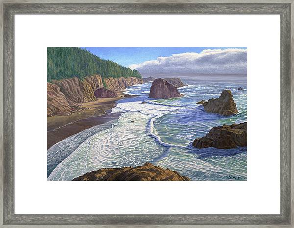 Looking South- Oregon Coast Framed Print