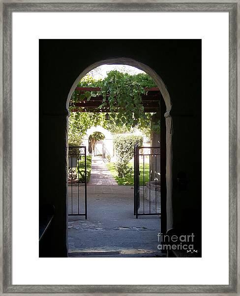 Looking Toward The Garden Framed Print
