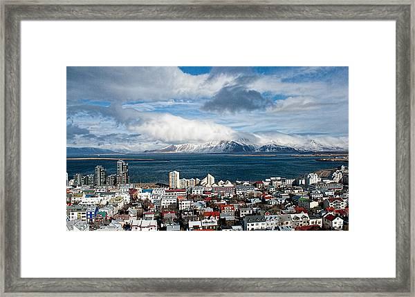 Lookout Over Reykjavik Framed Print