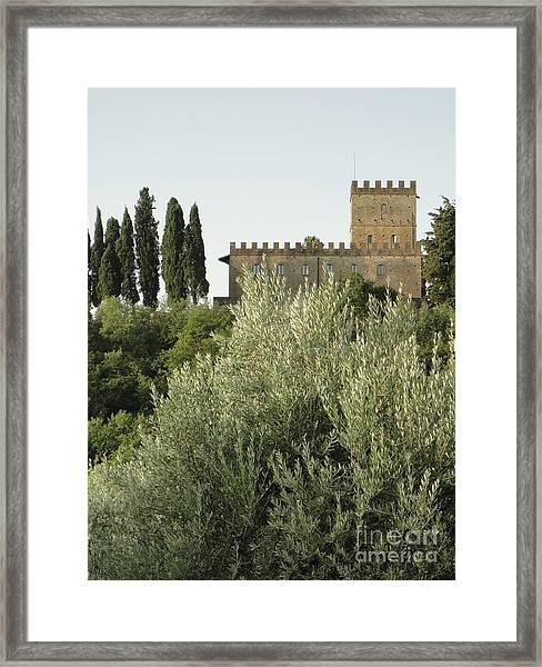 Loppiano's Castle Framed Print