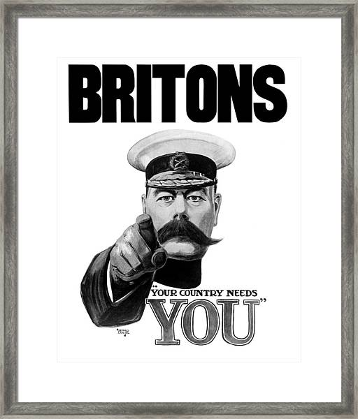 Lord Kitchener - Britons Your Country Needs You Framed Print