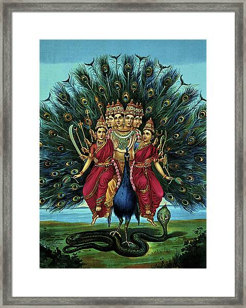 Lord Murugan Framed Print