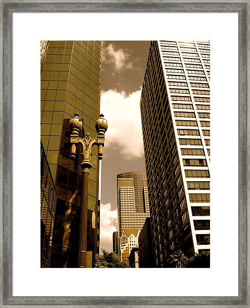 Los Angeles Downtown Framed Print