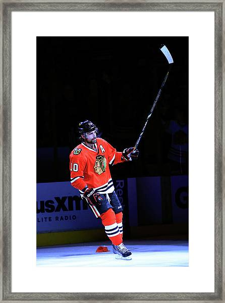 Los Angeles Kings V Chicago Blackhawks Framed Print by Jamie Squire