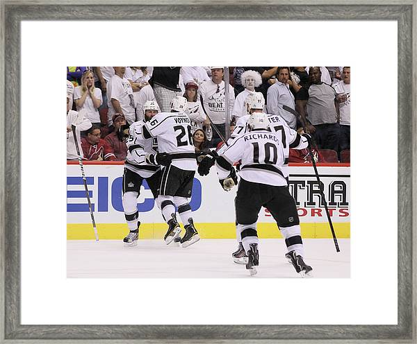 Los Angeles Kings V Phoenix Coyotes - Framed Print
