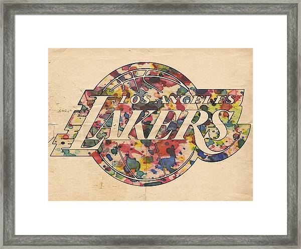 Los Angeles Lakers Poster Art Framed Print