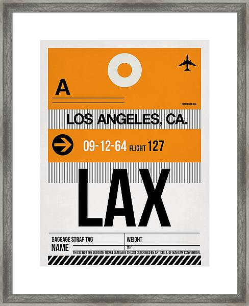 Los Angeles Luggage Poster 2 Framed Print