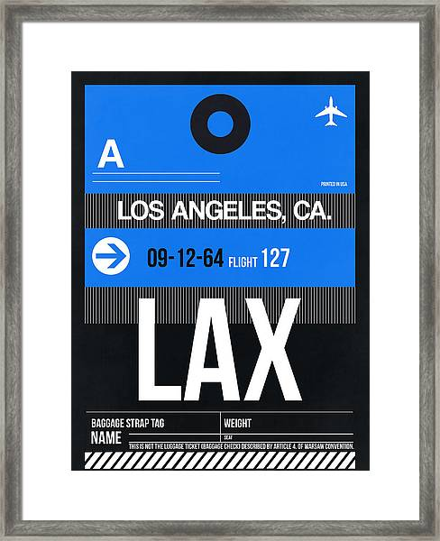 Los Angeles Luggage Poster 3 Framed Print