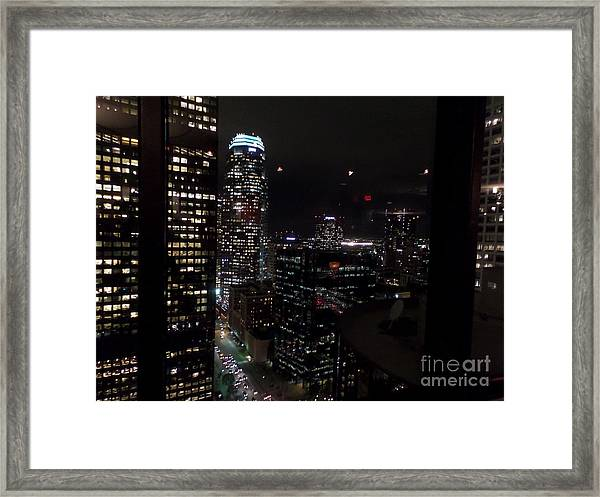 Los Angeles Nightscape Framed Print