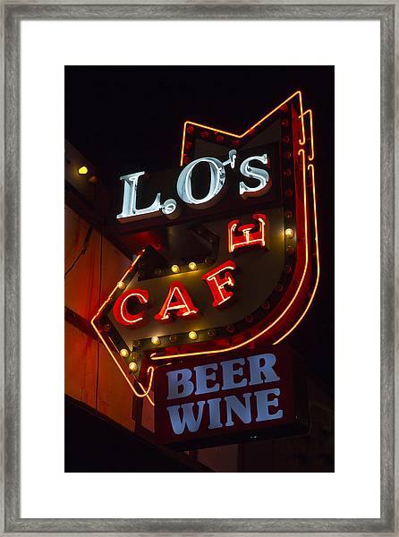 L.o's Cafe Framed Print