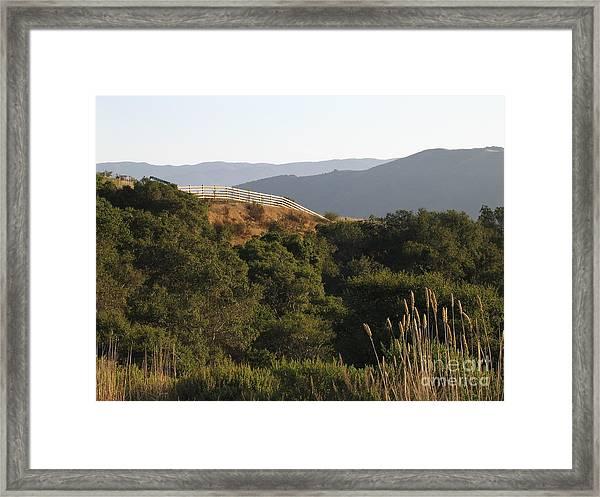 Los Laureles Ridgeline Framed Print