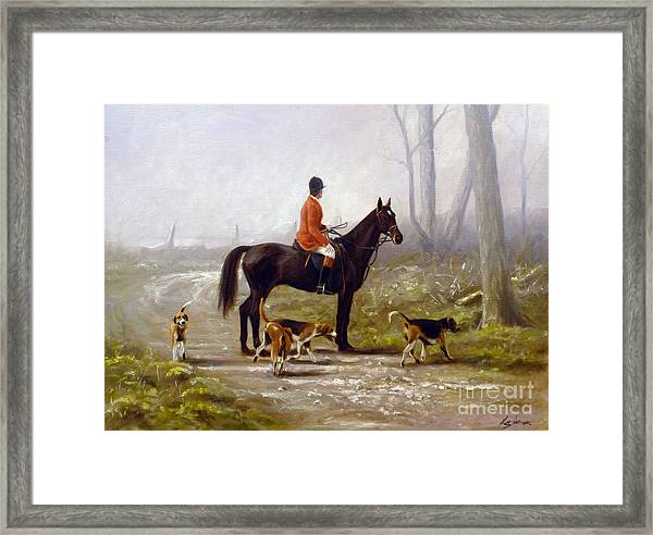 Losing The Scent Framed Print