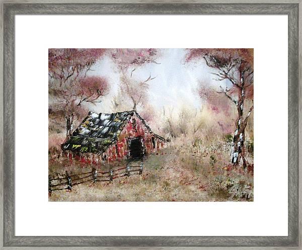Lost Barn Framed Print