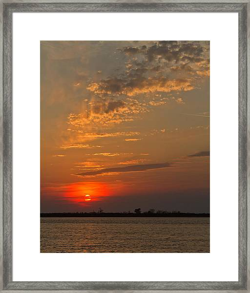 Lost In Wispy Cloudy Framed Print