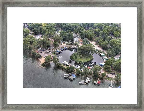Lazy Lagoon - West Lake Okoboji II Framed Print