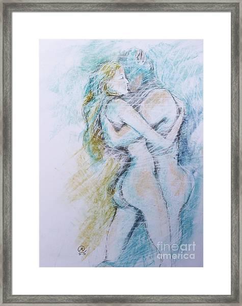 Lost On A Man Framed Print