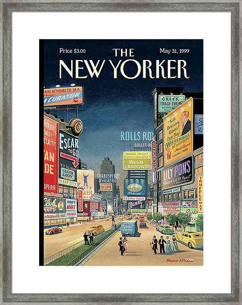 Lost Times Square Framed Print