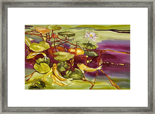 Lotus And Goldfish Framed Print