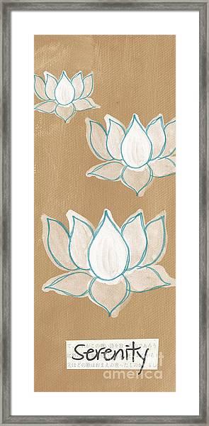 Lotus Serenity Framed Print