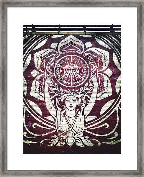 Lotus Woman Of Brooklyn Framed Print