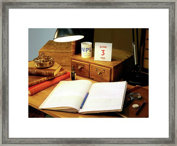 Louis Essen's Notes On Atomic Clocks Framed Print