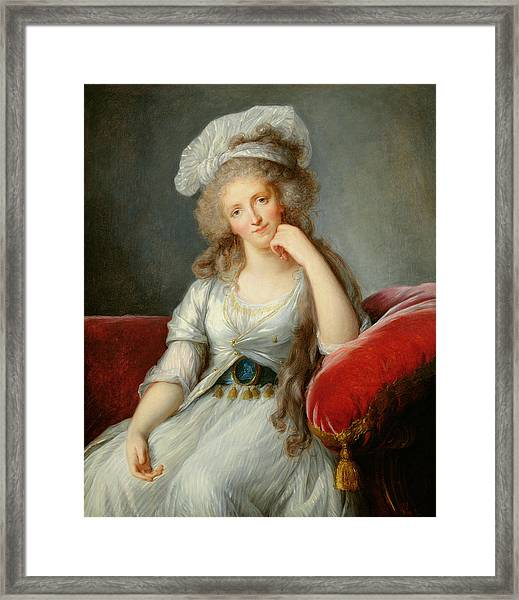 Louise-marie Adelaide, Duchesse Dorleans Oil On Canvas See Also 91622 Framed Print