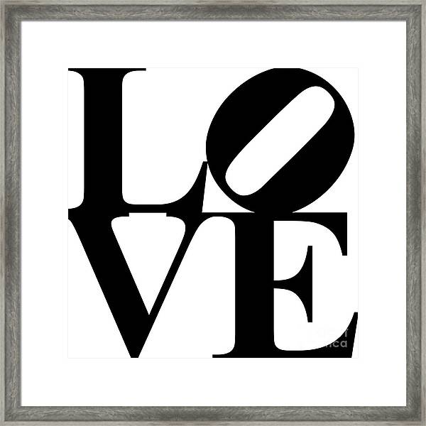 Love 20130707 Black White Framed Print