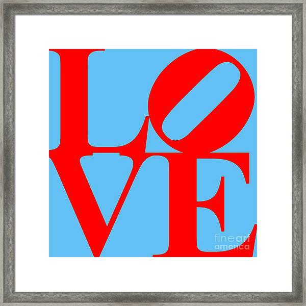 Love 20130707 Red Blue Framed Print