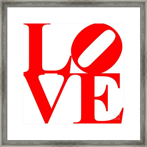 Love 20130707 Red White Framed Print