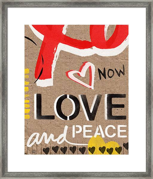 Love And Peace Now Framed Print