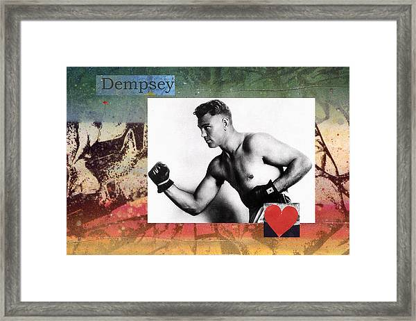 Love And War Dempsey Framed Print