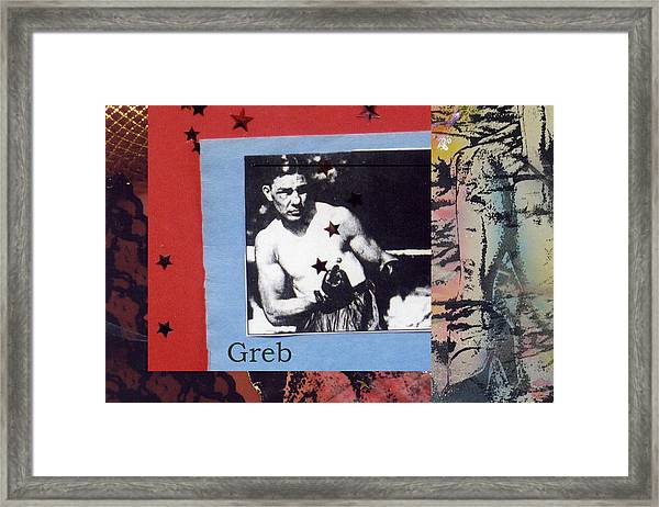 Love And War Greb Framed Print