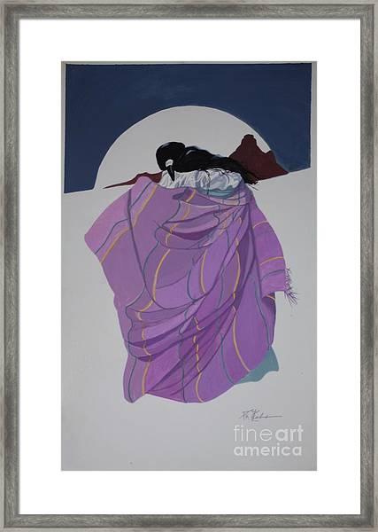 love at Bell Rock Framed Print by Pamela Mccabe