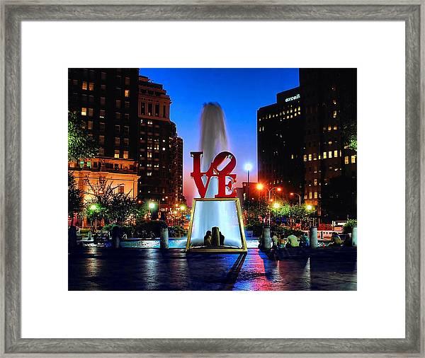 Love At Night Framed Print