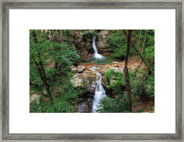 Love At The Blue Hole Framed Print