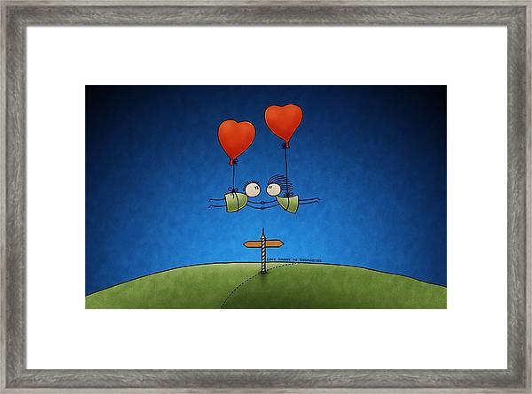Love Beyond Boundaries Framed Print