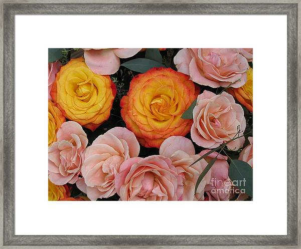 Love Bouquet Framed Print