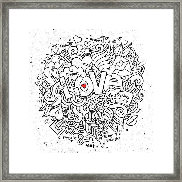 Love Cloud Framed Print by Bomo