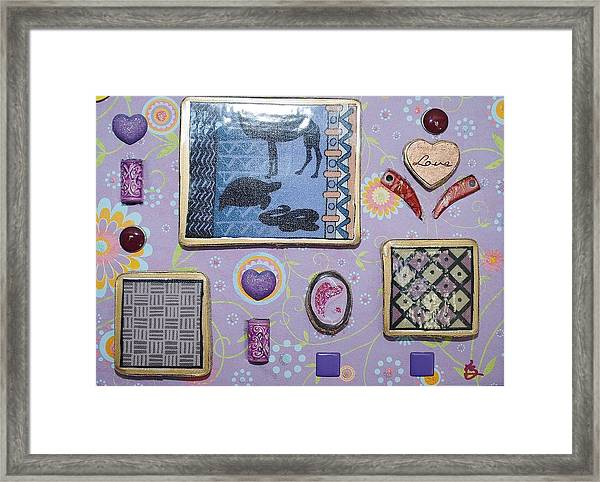 Love Collage Framed Print