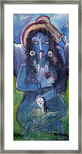 Framed Print featuring the painting Love For Kali by Laurie Maves ART