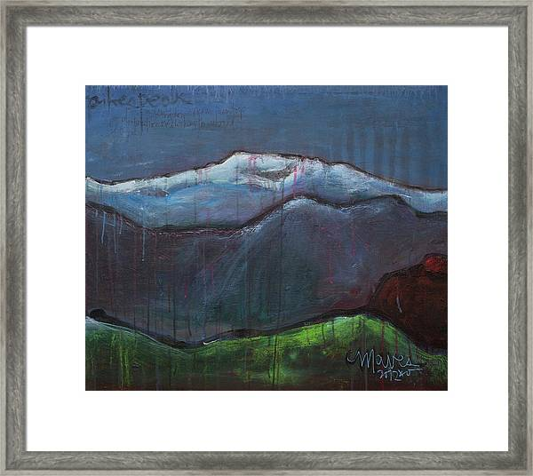 Framed Print featuring the painting Love For Pikes Peak by Laurie Maves ART